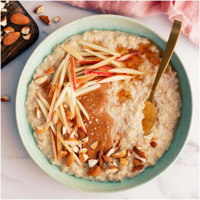 Almond Butter Banana and Apple Porridge