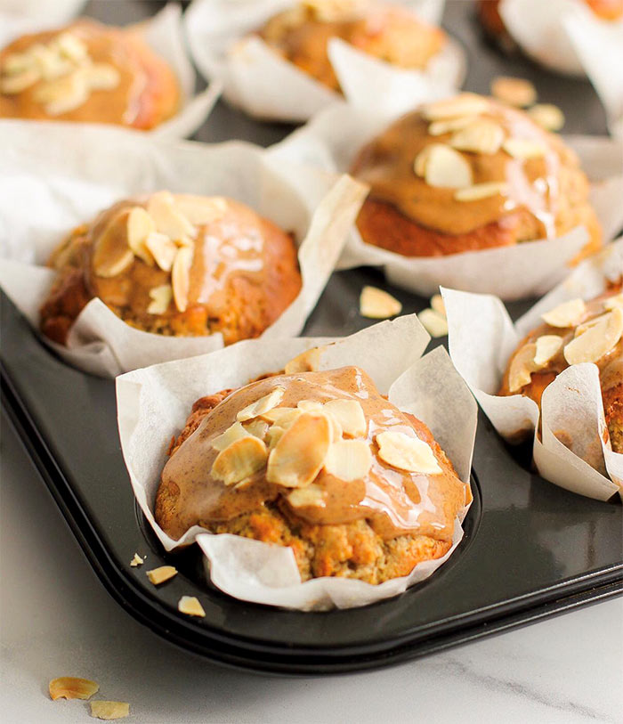 Banana and Almond Butter Muffins recipe