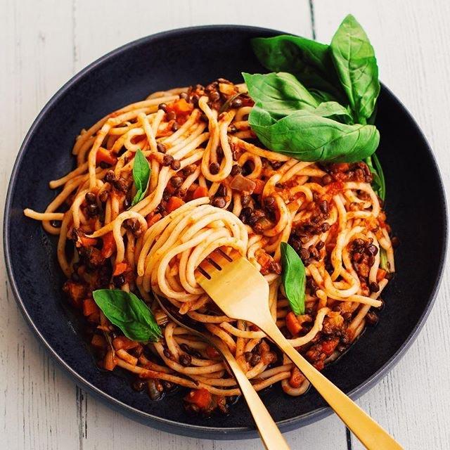 alice liveing recipe Lentil Bolognese